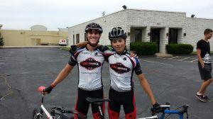 My Teammate Brandon and Myself